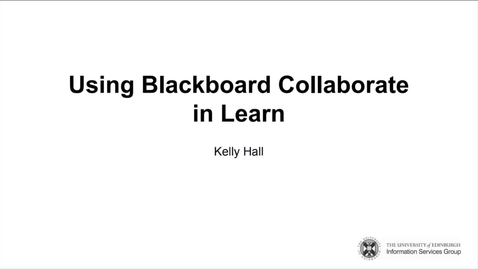 Thumbnail for entry Learn: Using Collaborate in Learn Recording September 2021