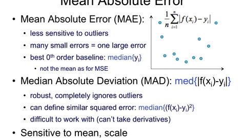Thumbnail for entry Mean Absolute Error (MAE)