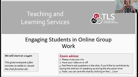 Thumbnail for entry Engaging Students in Online Group Work