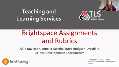 Thumbnail for entry Brightspace Assignments and Rubrics training
