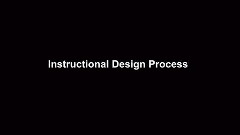 Thumbnail for entry Instructional Design models