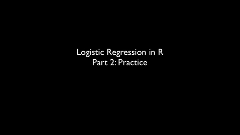 Thumbnail for entry 2015 RLABS MOD2 LogisticRegression Practice