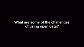Thumbnail for entry What are some of the challenges of using open data?