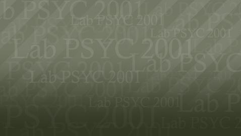 Thumbnail for entry PSYC2001 Rob01 MC 720P