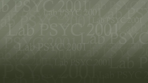 Thumbnail for entry PSYC2001 Brittany 02 A MC 720P