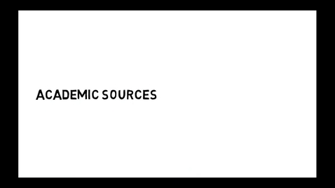 Thumbnail for entry Carleton University Library Popular vs Academic Sources and the Peer Review Process
