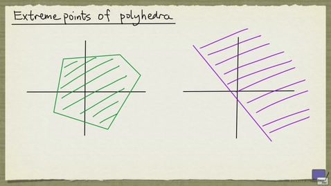 Thumbnail for entry 2 - Extreme points of polyhedra