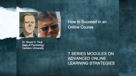 Thumbnail for entry How to succeed in an online course?