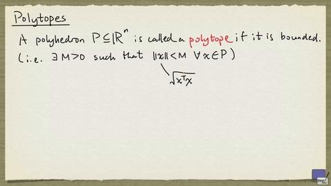 Thumbnail for entry 2 - Polytopes