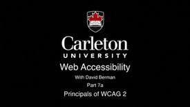 Thumbnail for entry 7a. Principals of WCAG 2