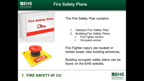 Thumbnail for entry Fire Safety at CU
