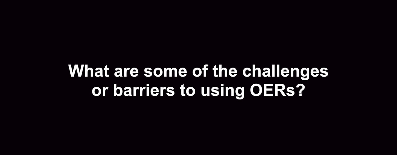 What are some of the challenges or barriers to using OERs?