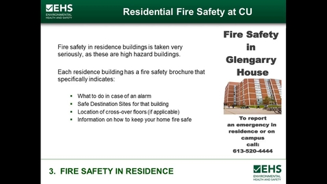 Thumbnail for entry Fire Safety In Residence
