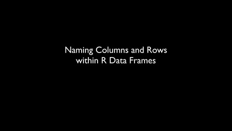 Thumbnail for entry 2015 RLABS INTRO DataTypes3 Practice NamingColumnsAndRows