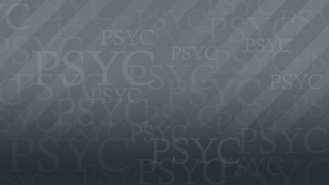 Thumbnail for entry PSYC1001 Pychyl MC 720P