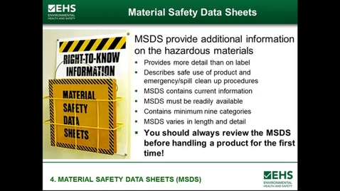 Thumbnail for entry MSDS