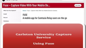 Thumbnail for entry Carleton University TechSmith Fuse Tutorial