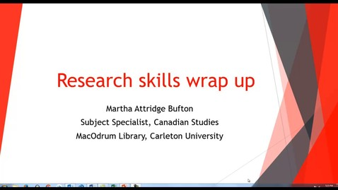 Thumbnail for entry Research Skills Wrap Up