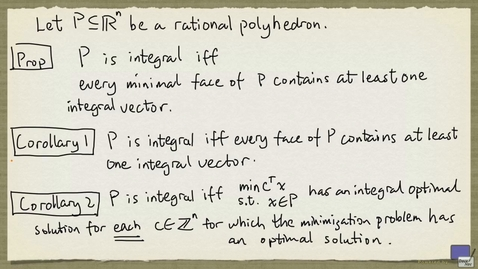 Thumbnail for entry 4 - Integral polyhedra