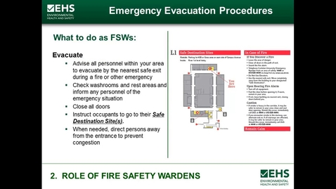Thumbnail for entry Role of fire safety wardens