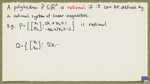 Thumbnail for entry 4 - Meyer's Theorem for rational polyhedra