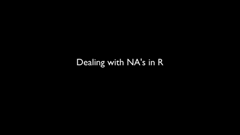 Thumbnail for entry 2015 RLABS MOD1 DealingWithNAs