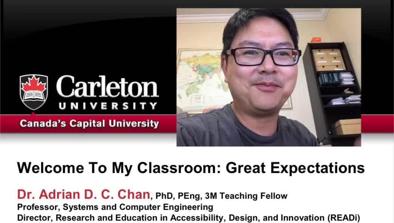Welcome to My Online Classroom - Adrian Chan