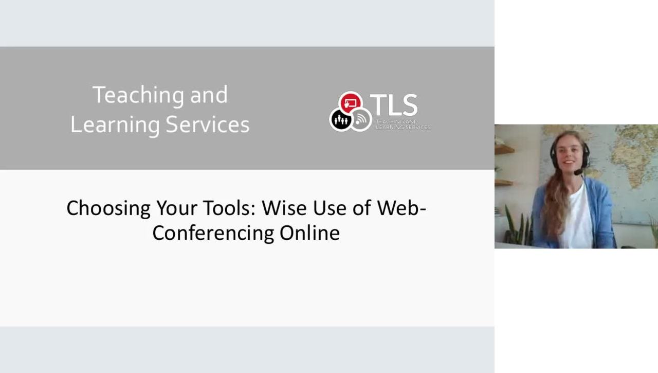 Choosing Your Tools:  Wise Use of Web-Conferencing