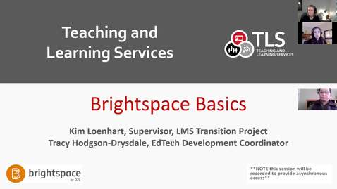 Thumbnail for entry Brightspace Basics: Getting Started in Carleton's New LMS! (Feb.19)
