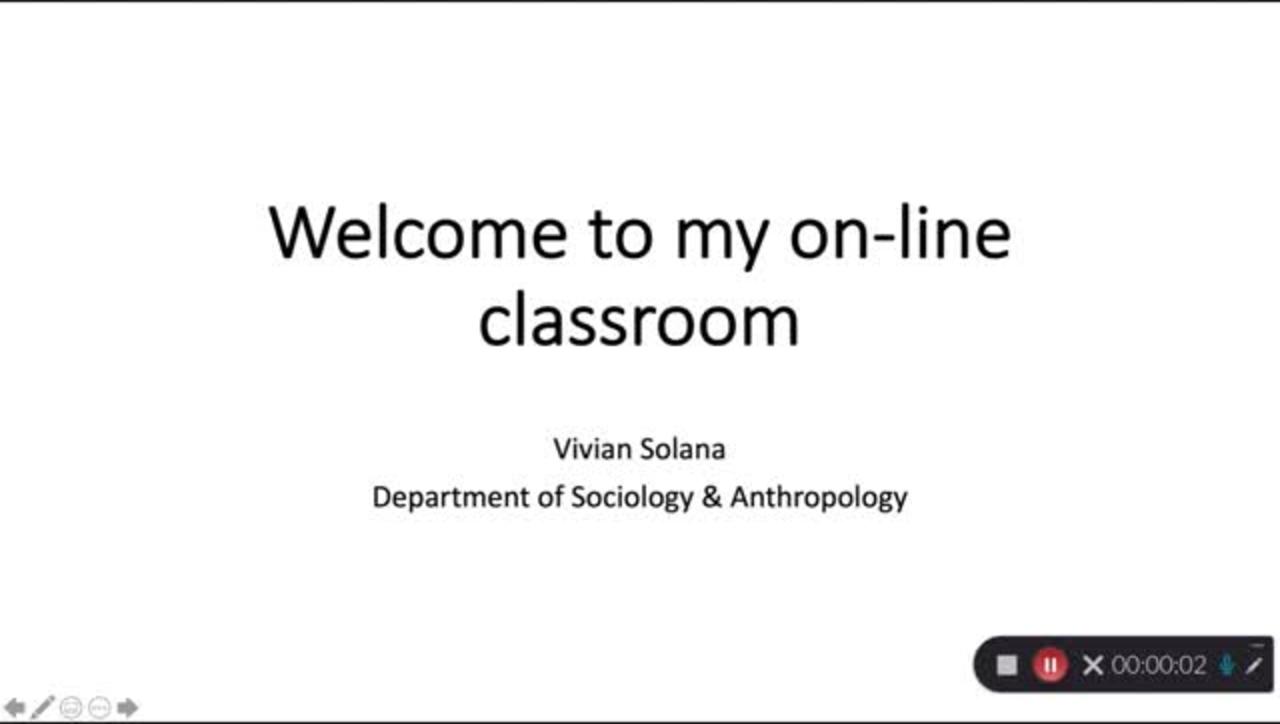 Welcome to My Online Classroom - Vivian Solana