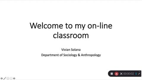 Thumbnail for entry Welcome to My Online Classroom - Vivian Solana