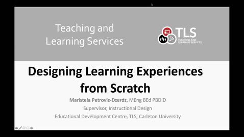 Thumbnail for entry Designing Learning Experiences from Scratch  -  Part 1