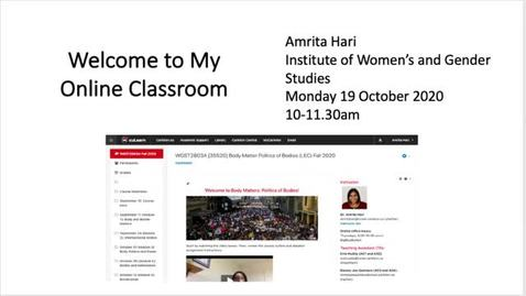 Thumbnail for entry Welcome to My Online Classroom – Amrita Hari