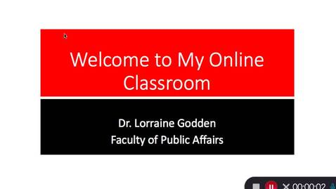 Thumbnail for entry Welcome to My Online Classroom - Lorraine Godden