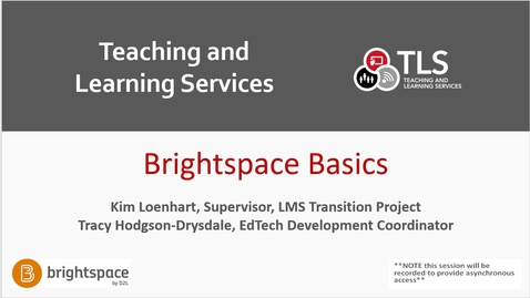 Thumbnail for entry Brightspace Basics: Getting Started in Carleton's New LMS! (Feb. 16)