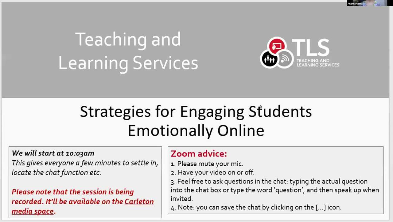 Strategies for Engaging Students Emotionally Online