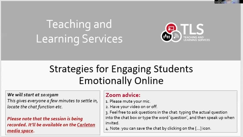 Thumbnail for entry Strategies for Engaging Students Emotionally Online