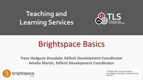 Thumbnail for entry Brightspace Basics: Getting Started in Carleton's New LMS [March 8]