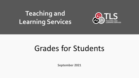 Thumbnail for entry Accessing Grades and Feedback on Brightspace for Students
