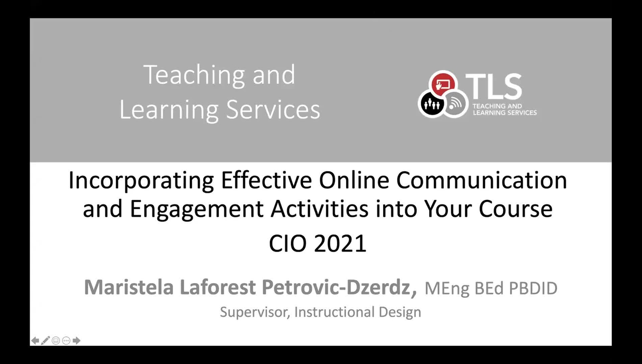 Effective and Engaging Online Activities and Communication Strategies - Highlights