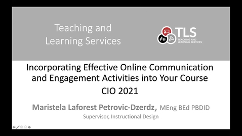Thumbnail for entry Effective and Engaging Online Activities and Communication Strategies - Highlights