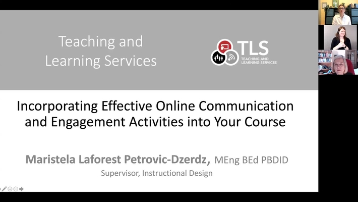 Incorporating Effective and Engaging Online Activities into Your Course - March 2021 CDF Workshop Recording