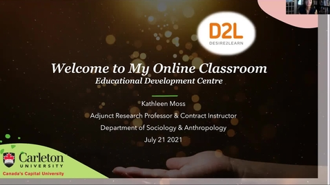 Thumbnail for entry Welcome to My Online Classroom- Kathleen Moss July 21 2021
