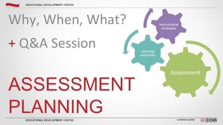 Assessment Planning: Why, When, What? - Maristela PD & Anthony Marini, 2015.