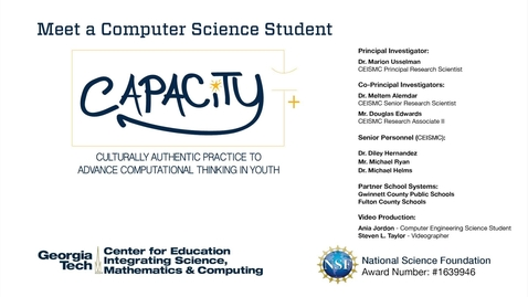 Thumbnail for entry Ania Jordan - Meet a Computer Science Student