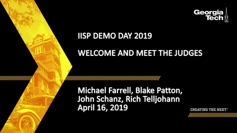 Thumbnail for entry Cybersecurity Demo Day Welcome and Meet the Judges