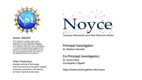 Thumbnail for entry An Exploratory Study: The Role of Social Networks and Self-Efficacy in the Retention of Noyce Teachers - NSF Video Showcase 2019