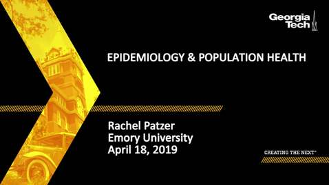 Thumbnail for entry Rachel Patzer - Epidemiology & Population Health