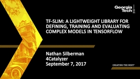 Thumbnail for entry TF-Slim: A Lightweight Library for Defining, Training and Evaluating Complex Models in TensorFlow - Nathan Silberman