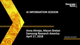 Thumbnail for entry AI Information Session - Anna Almejo, Mason Bretan